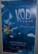 J. Cole Kod Tour with Young Thug Show Poster Denver Co Sep 10th 2018 Very Cool