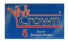 100 x Crown Super Stainless Safety Razor Blades