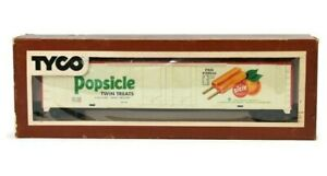 HO Scale Tyco 60' Box Car, Popsicle Twin Treats, White  P #29016 360F