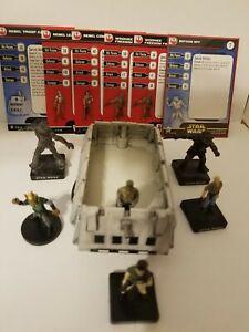 Star Wars Miniatures Rebel Troop Cart & Rebel Leader Rebel Team Builder Lot
