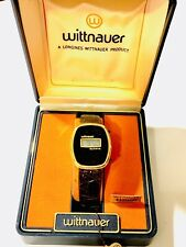 Vintage Longines Wittnauer Original Swiss  LCD Men's Wrist Watch w/ Box(20907M)