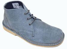 Stivali, anfibi e scarponcini da uomo blu casual in camoscio