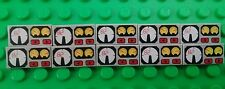 Lego 2x1 Grey Odometer Dashboard Print Badges Bricks Plates - 10 Pieces