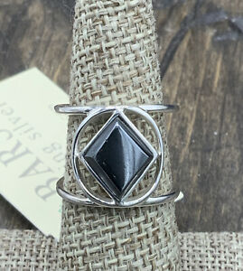 Barse Frita Ring- Hematite & Sterling Silver-7- New With Tags