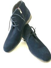 Stacy Adams men's shoes, NEW, navy blue suede boots, memory foam sole, size 46