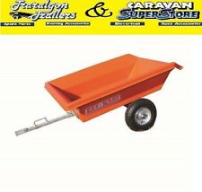 quad bike mower trailer kart 7 CU/FT small tractor tipping polyethylene trailer3