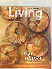 Martha Stewart Living Oct 2011 COZY DINNERS 32Hearty Fall Recipes FREE SHIPPING