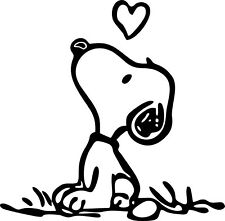 Snoopy with Heart - The Peanuts vinyl decal sticker for Cars, Truck, etc.