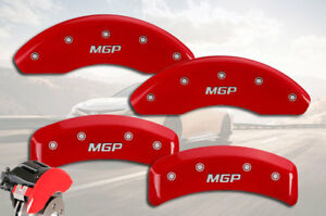 "2004-2009 Toyota MARK X Front + Rear Red ""MGP"" Brake Disc Caliper Covers 4pc Set"
