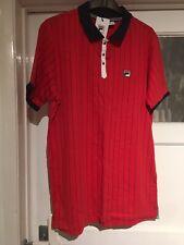 Fila Vintage Red Bjorn Borg Retro Tennis Shirt Polo Size L, New With Tags