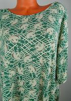 New Lularoe Disney Irma Tunic Top Shirt 2XL 18 20 Mickey Mouse Green   cc