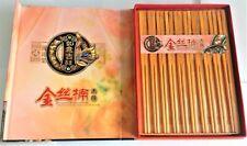 Jinsi Nanmu Chopstick Set - 10 Pairs Made From Golden Jinsi Nanmu Wood