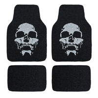 Universal Waterproof Skull Coil Car Floor Mats Durable For SUV Van Sedan 4 PCS