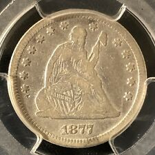 1877 25C Seated Liberty Quarter PCGS F Details      26927081