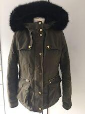 Topshop khaki coat, Size 6