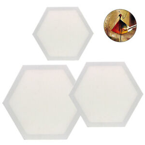 Hexagon Artist Blank Canvas Frames 3Pcs Cotton Stretched Canvas for Oil Painting