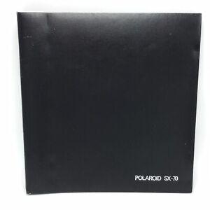 Vtg Polaroid SX-70 Photo Album Book with 3 Pages Large Black Photography Retro