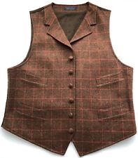 PENDLETON Mens OREGON TWEED Wool Vest Plaid Button Front Cotton Lined Size 42