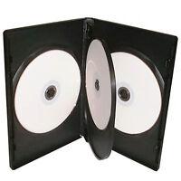 25 X 4 Way Quad CD DVD Blu ray Case Black 14mm Spine HIGH QUALITY