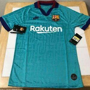 FC Barcelona 3rd Alternate Teal 2019/2020 Jersey Small New with Tags