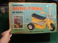 Electric MINI-TRIKE -- UNUSED -- MARX rare outdoor toy -- 1971 -- big wheel