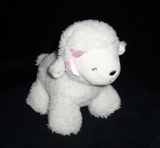 Carters Child of Mine White LAMB Wind Up Musical Plush Pink Bow Polka Dot Feet