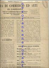 Camera di commercio ed arti CARRARA-1891-A I, n.1 1891( G.B.Cucchiari)