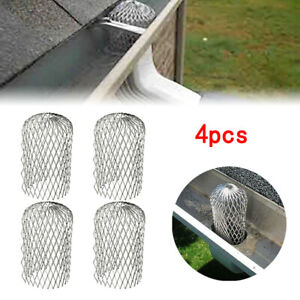 4X Dachrinnen Sieb Laubfangkorb Dachrinnenschutz Aluminium Regenrinnen Schutz DE