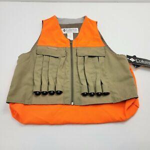 Columbia Men's Medium Orange Green Hunting Quick Loader 20 Guage Vest HM1250 NWT