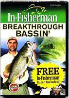 In-Fisherman Breakthrough Bassin' ~ Bass Fishing DVD with Free Ruler ~ NEW
