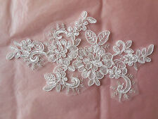 ivory bridal wedding floral lace applique lace tulle motif for sale Per piece