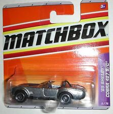 1965 Silver Shelby Cobra 427 S/C Matchbox 2009 Short Card 5/75 Rare Die Cast Car