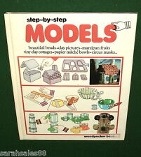 Vintage 1977 Step-by-Step Models Woodpecker Books UK 1st Print Circus Masks Clay