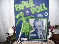 SHEET MUSIC THE PAPER DOLL BY JOHNNY BLACK 1943 BING CROSBY
