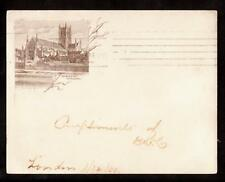 1900 worchester cathedral london uk small pioneer postcard