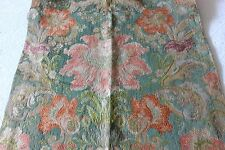 19thC Antique French Jacobean Silk Brocade With Metallic Threads Curtain Panel