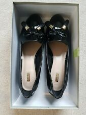 Women's Black Patent Leather Loafers Shoes by CARVELA KURT GEIGER Size 40 UK 7