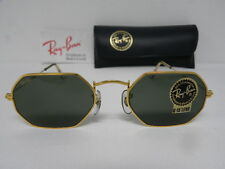 New Vintage B&L Ray Ban Classic Collection Style VI Octagon W1535 Gold NOS