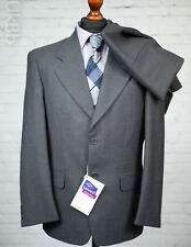 Skopes Single Breasted Suit Grey Wool Blend 38S 34W 30L