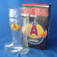 "SGA baseball Angels Oktoberfest Boot Mug 18 ounces size 8"" tall stein glass"