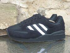 Vintage 1994 Adidas Street Plus UK10.5 / US11 Black White Originals Rare 90s