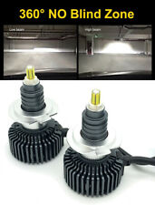 Pair H7 360 LED headlight bulbs 6000K 9000lm canbus No Dark spot