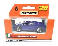 Matchbox MBX Superfast 1999 No 28 Lamborghini Diablo German issue