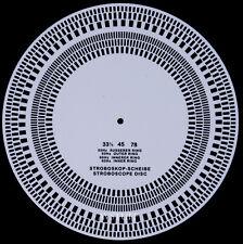TURNTABLE RECORD PLAYER STROBOSCOPE STROBE DISK CHECK SPEED CARTRIDGE ALIGNMENT