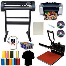 "24"" 500g LaserPoint Vinyl Cutter Plotter,15x15"" Heat Transfer Press,Printer,Ink"