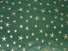 Weihnachtsstoff, Taft, goldene Sterne, tannengrün, ca. 140cm