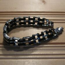 Stainless Steel Man Chain Biker Motorcycle wristband bracelet (choice designs)
