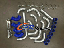 "FOR 2"" 51 mm Aluminum Universal Intercooler Turbo Piping + blue hose+T-Clamp kit"
