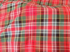 Caledonia Tartan fabric By The Meter - poly viscose 13oz