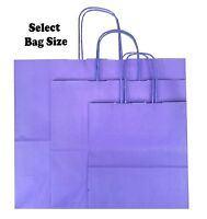Purple Paper Gift Bags ~ Boutique Shop Party Bag ~ Pick Size Small Medium Large